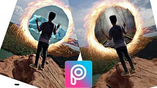How to make a Portal of Doctor Strange in Picsart