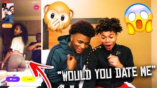 ASKING RANDOM GIRLS WOULD THEY DATE ME OR MY FRIEND ON MONKEY APP 🐵 (IT GOT REAL)