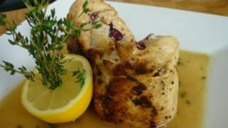 Caramelized Apple Stuffed Chicken With Apple Cider Sauce