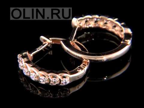 Золотые кольца с фианитами 2