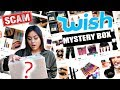 OPENING WISH MYSTERY MAKEUP BOX!! Scam?