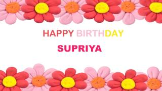 Supriya   Birthday Postcards & Postales - Happy Birthday