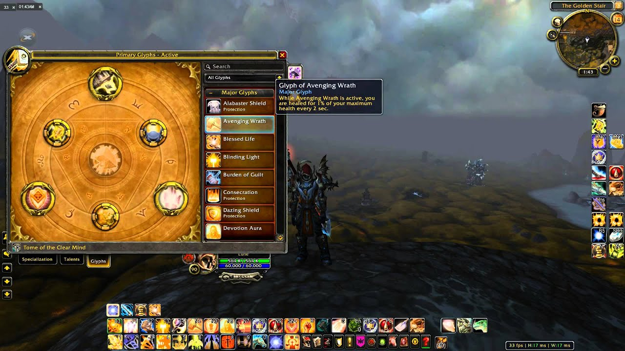 Pandaria ret paladin pvp experience immersion journal.