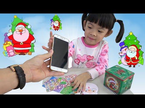 Trò Chơi Dán Hình Giáng Sinh NOEL ❤ AnAn ToysReview TV ❤