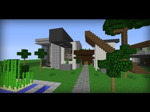 Full download tutorial de como hacer una casa moderna en for Tutorial casa moderna grande minecraft