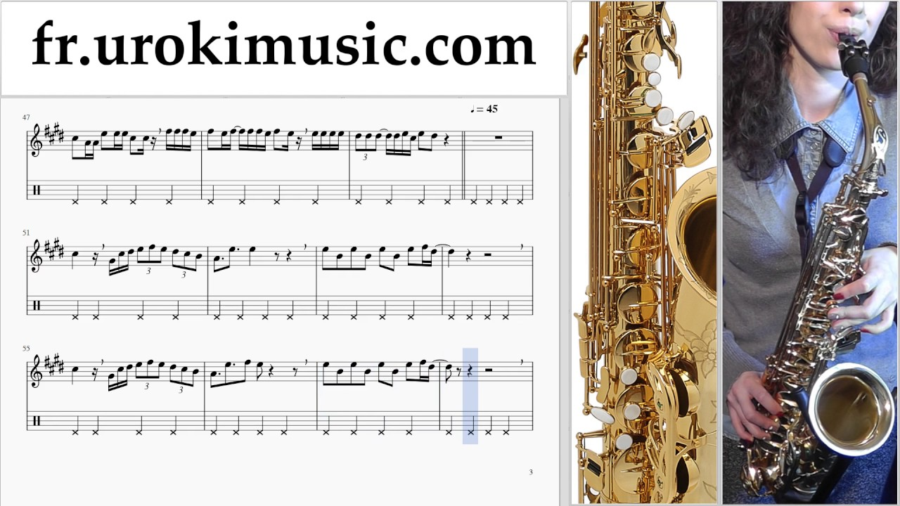 cours de saxophone t nor luis fonsi despacito tuto partitions partie 2 um a829 youtube. Black Bedroom Furniture Sets. Home Design Ideas