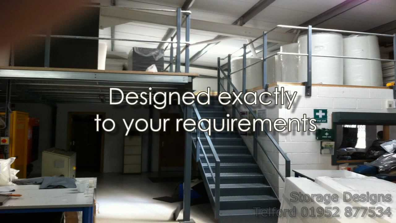 Mezzanine Floor Designs mezzanine floorsstorage designs - youtube