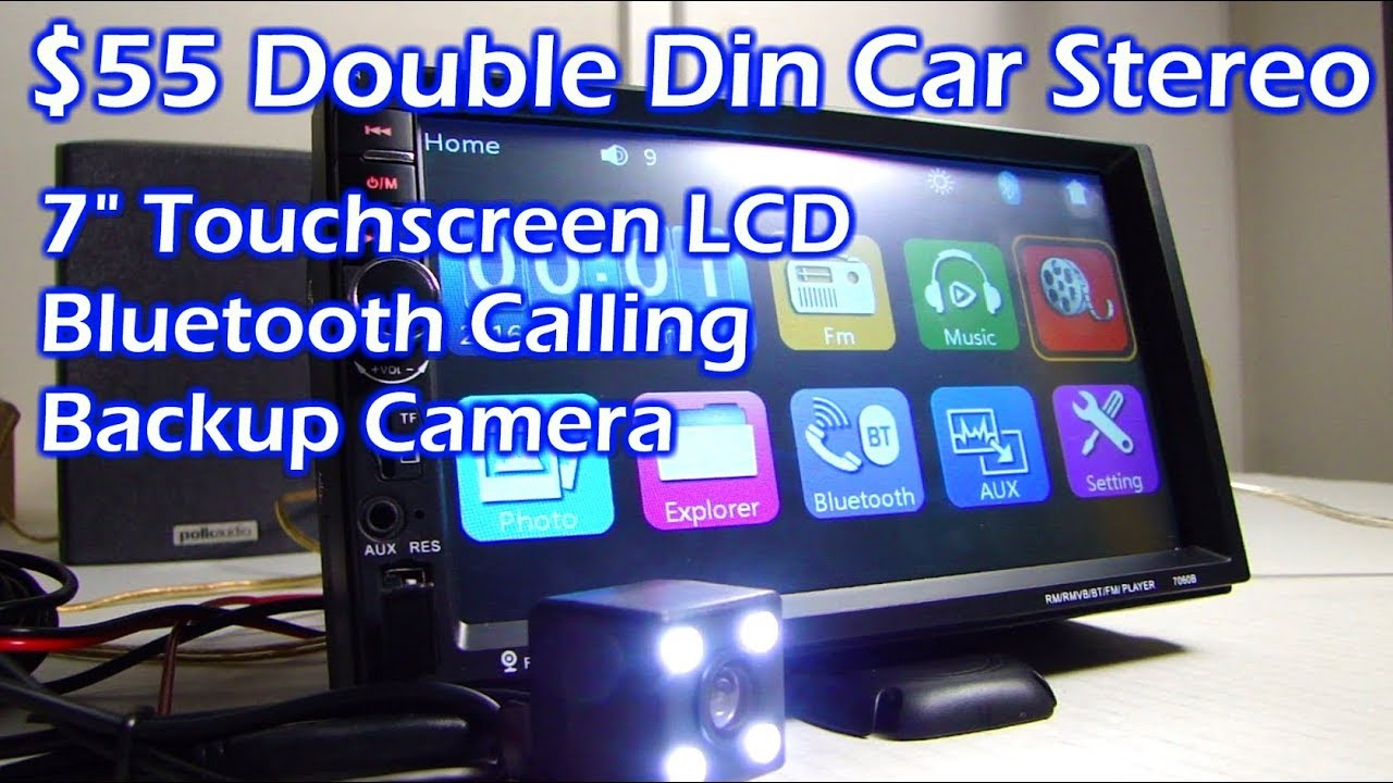 hight resolution of  55 double din 7 lcd touchscreen bluetooth car stereo