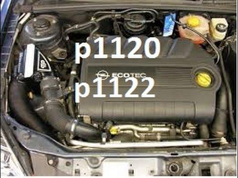 Opel Vauxhall Opel Astra Zafira P1120 P1122, Usterka Czujnika Pedału Gazu, Jak Naprawić