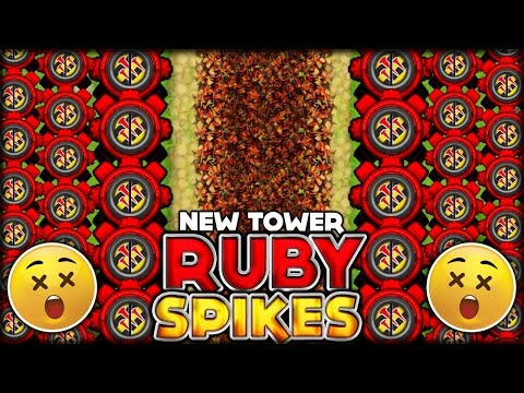 THE NEW RUBY SPIKES FACTORY VS ROUND 100 MEGA ZOMG! (BTD Battles/ Bloons TD Battles Hack/Mod)