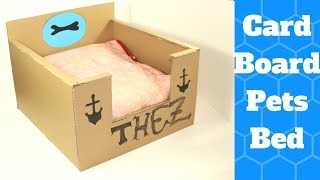 How to Make a Dog Bed With Cardboard