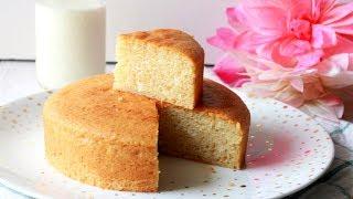 Eggless Vanilla Sponge Cake   Soft & Spongy