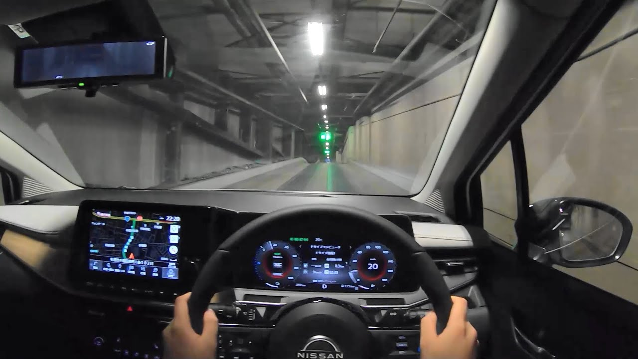 【試乗動画】2021 新型 日産 ノート オーラ e-POWER G FOUR leather edition 4WD 夜間試乗