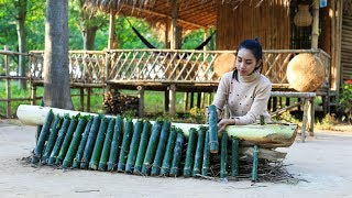 Cooking sticky rice in bamboo in my country - Polin Lifestyle