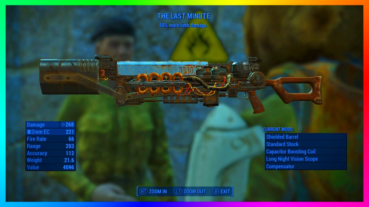 Fallout 4 Best Gauss Rifle Legendary Quot The Last Minute