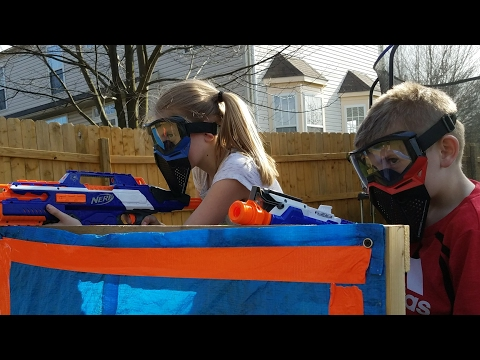 Nerf: Sniper Tower with Twin Toys Eli & Liam