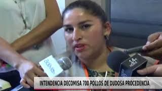 INTENDENCIA DECOMISA 700 POLLOS DE DUDOSA PROCEDENCIA