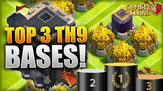 TOP 3 BEST TOWN HALL 9 FARMING BASE 2017! TH9 HYBRID DESIGNS FT. DOUBLE CANNON! -CLASH OF CLANS(COC)