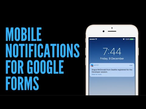How to Receive Push Notifications for Google Forms on your Mobile ...