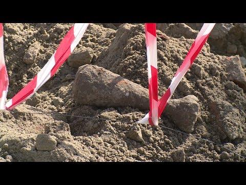 На стройплощадке храма Александра Невского обнаружен снаряд времен войны