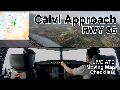 Airbus CIRCLING APPROACH CALVI by CAPTAIN JOE