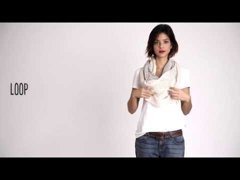 How To Tie A Scarf: EILEEN FISHER Tips - Spring 2014