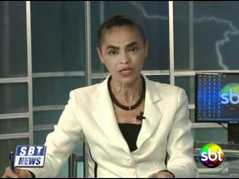 SBT NEWS entrevista Marina Silva -  2 - SBT Santa Catarina