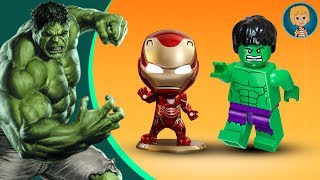 HULK IN ACTION! Iron Man + SpiderMan Epic Battle (Gertit ToysReview)