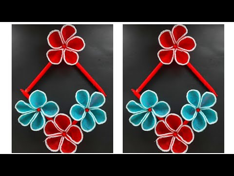 DIY Shopping Bag Crafts Idea | Beautiful Flower Making with Shopping Bag