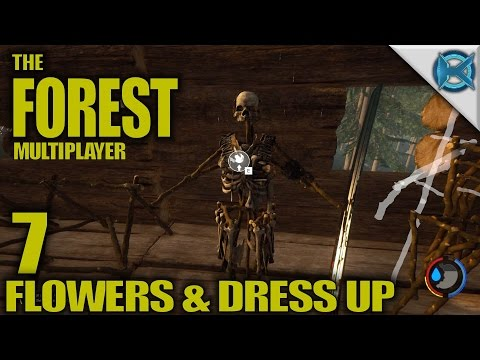"""The Forest -Ep. 7- """"Flowers & Dress Up"""" -Multiplayer Let's Play Gameplay- Alpha 0.45 (S4)"""