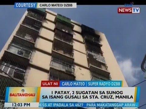 BT: 1 patay, 2 sugatan sa sunog sa isang gusali sa Sta. Cruz, Manila