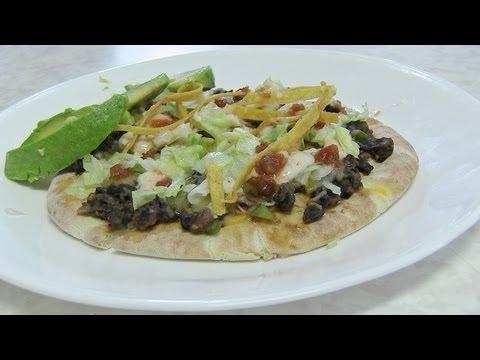 Toastada Pizza – Low fat Pizza – Mexican Pizza Video Recipe by Bhavna