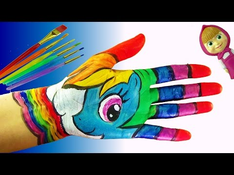 Learn Colors with Body Paint for Kids | Body Painting Learning Colors for Children