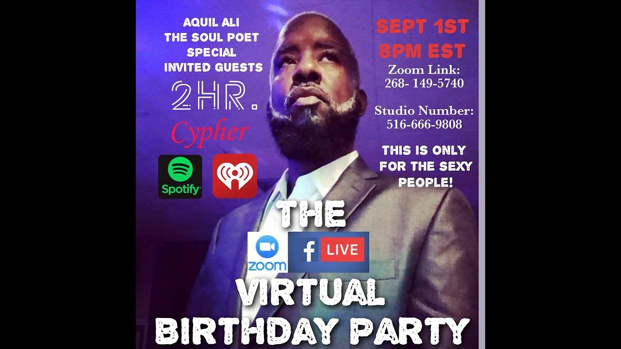 "CEO Aquil Ali's "" Virtual B-Day Bash"""