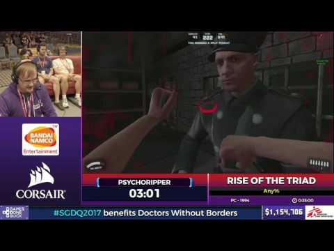 Rise of The Triad by psychoripper in 26:08 - SGDQ2017 - Part 127