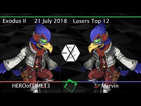 Exodus II - HEROofTIME13 (Falco) vs Marvin (Falco, Mario) - SSF2 Beta Losers Top 12