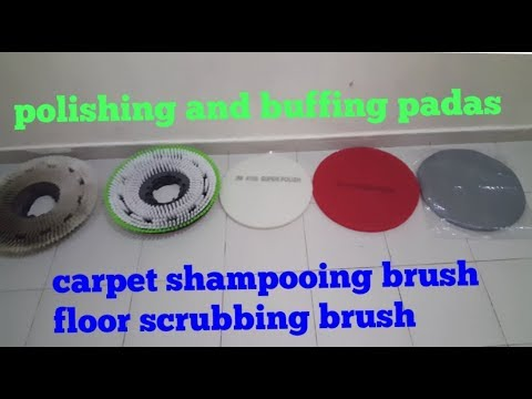 polishing and buffing padas  carpet shampooing brush  floor machine scrubbing brush