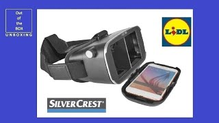 SilverCrest Virtual Reality Headset / Glasses UNBOXING (Lidl 3D 360° VR games with your smartphone)