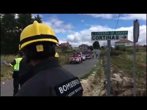 Muere un motorista en Ourense tras chocar con un turismo