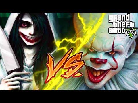 GTA 5 Mods - Jeff The Killer Và Trận Quyết Đấu Với Tên Hề Ma Quái Pennywise   Big Bang