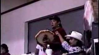 Native American Shoshone Paiute Indian signing - Round Dance