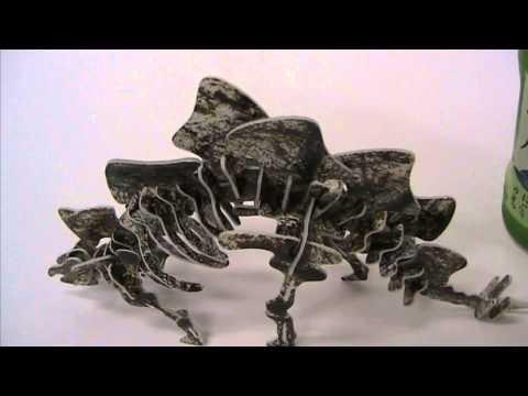 22870 ボール紙工作恐竜組立キット ステゴサウルス