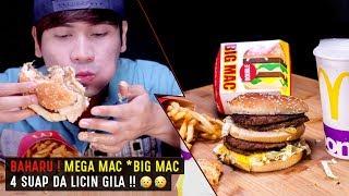 ASMR : BAHARU ! MEGA MAC *Big Mac Burger + Salted Caramel Choc Pie (4 SUAP DA LICIN GILA !! ) 😢😢