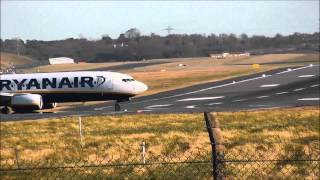 Windy day at Birmingham Airport