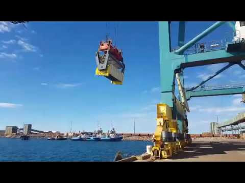 Southern Ports Authority, Port of Esperance has trialed new rotating container technology