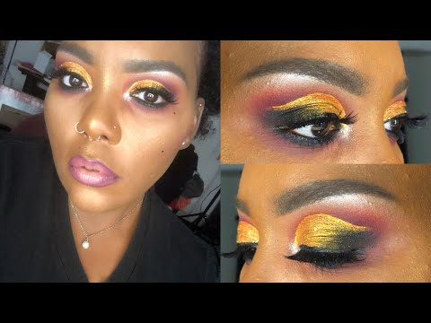 Cranberry and Gold Fall Eyeshadow Tutorial ft. Juvia's Place 'Afrique' Palette