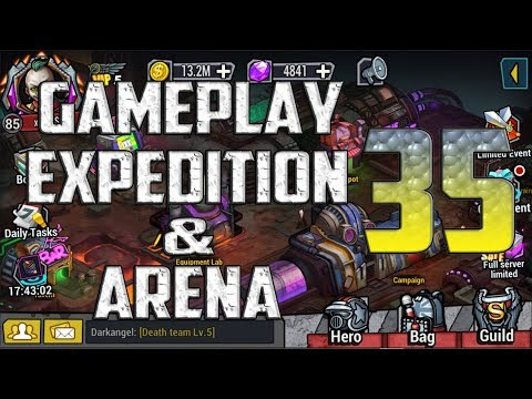 "Clone Evolution (Android/IOS) ""Gameplay, Expedition & Arena 35"" 1.50xSpeed"