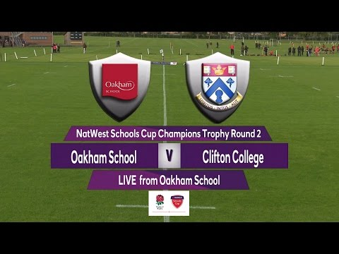 Highights - Natwest Schools Cup Champions Trophy 2016 Round 2 Oakham School v Clifton College