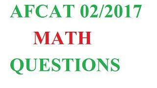 AFCAT MATH QUESTIONS