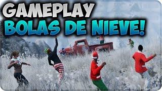 GTA 5 ONLINE 1.20 - NUEVO GAMEPLAY FILTRADO BATALLA DE BOLAS DE NIEVE - DLC NAVIDAD GTA V